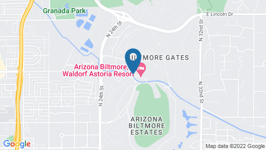 Arizona Biltmore, A Waldorf Astoria Resort Map