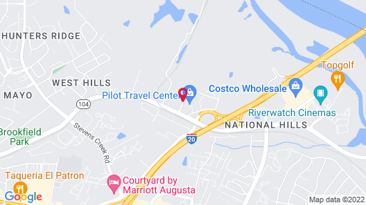 Microtel Inn & Suites by Wyndham Augusta/Riverwatch Map