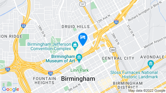 The Westin Birmingham Map