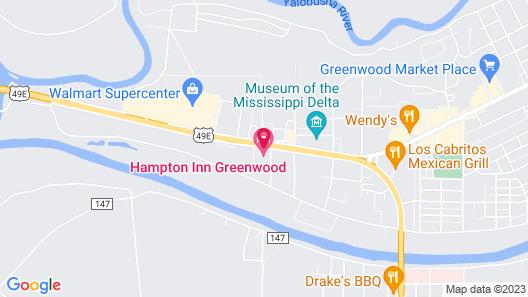 Hampton Inn Greenwood Map