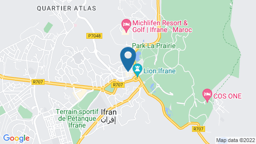 L'empreinte D'ifrane Map