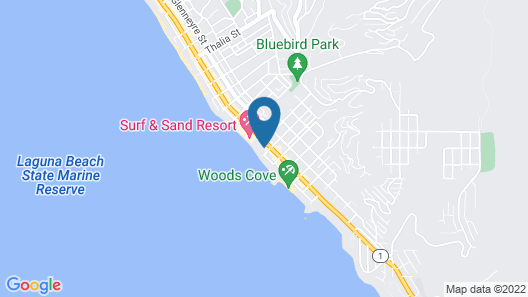 Seaside Laguna Inn & Suites Hotel Map