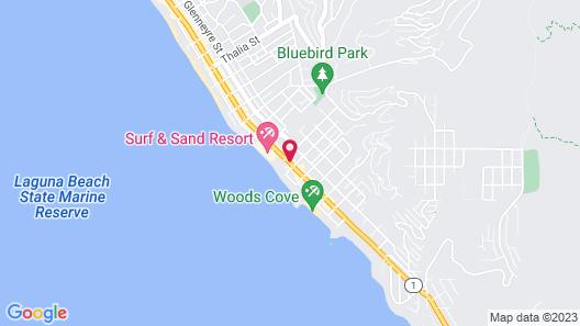 Laguna Brisas - A Beach Hotel Map