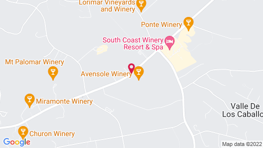 Carter Estate Winery and Resort Map
