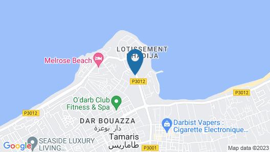 Dar Bouazza Map