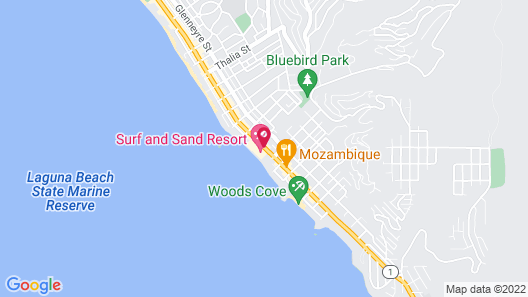Surf And Sand Resort Map