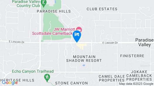 Mountain Shadows Resort Scottsdale Map