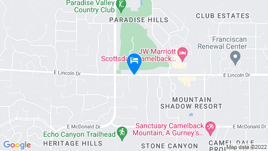Omni Scottsdale Resort & Spa at Montelucia Map