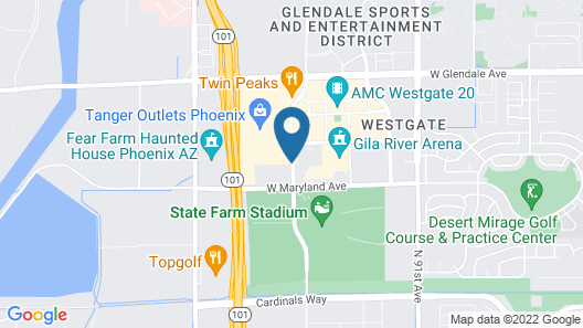 Hampton Inn & Suites - Glendale/Westgate Map