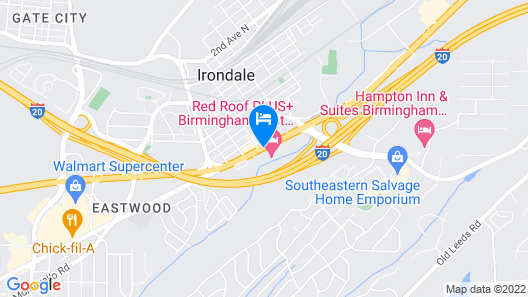 Red Roof Inn PLUS+ Birmingham East - Irondale/Airport Map