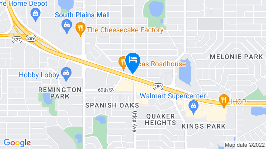 Extended Stay America Lubbock - Southwest Map