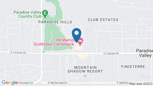 JW Marriott Camelback Inn Scottsdale Resort & Spa Map
