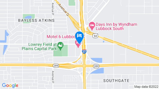 Red Roof Inn & Conference Center Lubbock Map