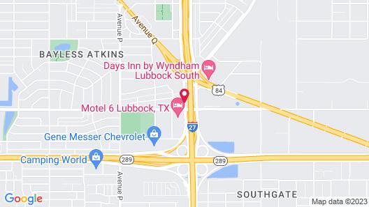 Super 8 by Wyndham Lubbock TX Map