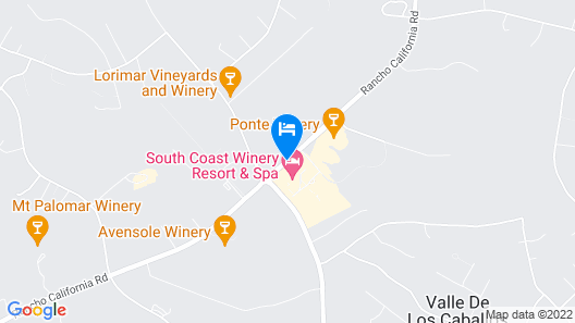 South Coast Winery Resort and Spa Map