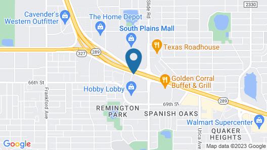 Embassy Suites Lubbock Map