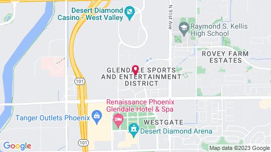 Staybridge Suites Phoenix - Glendale Sports Dist, an IHG Hotel Map