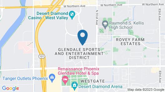 Springhill Suites Phoenix Glendale Sports & Entertainment District Map