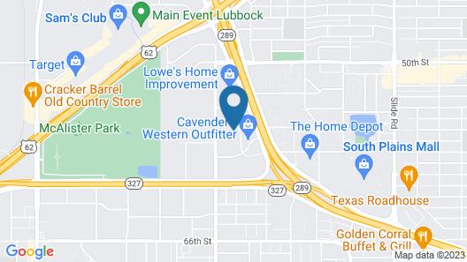 Hampton Inn & Suites Lubbock Southwest Map