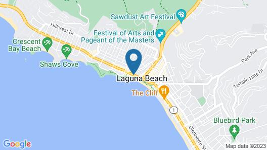 Inn at Laguna Beach Map