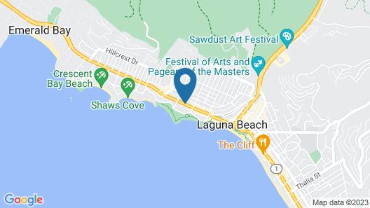 The Tides Laguna Beach Map