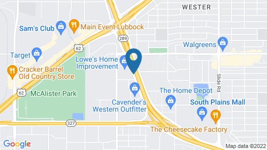Homewood Suites by Hilton Lubbock Map