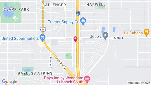 Howard Johnson by Wyndham Lubbock TX Map