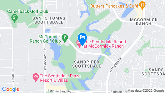 The Scottsdale Resort at McCormick Ranch Map