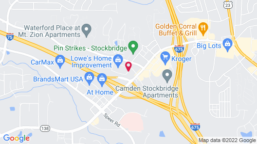 Holiday Inn Hotel & Suites Stockbridge / Atlanta I-75 Map