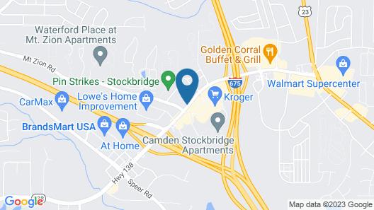 WoodSpring Suites Atlanta Stockbridge Map