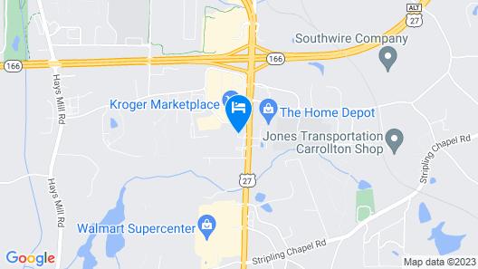Hampton Inn Carrollton Map