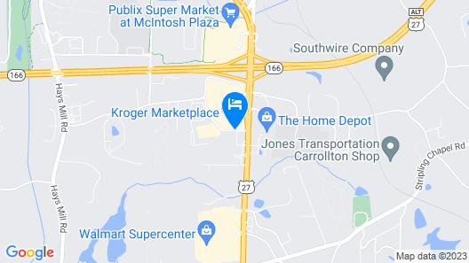 Best Western Plus Carrollton Hotel Map