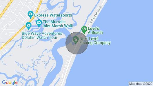 Marlin Quay, Penthouse 501. Unique Views Of Ocean, Inlet, and Marsh, Weeks Only Map