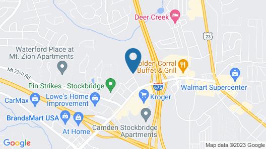 Hampton Inn Atlanta - Stockbridge Map