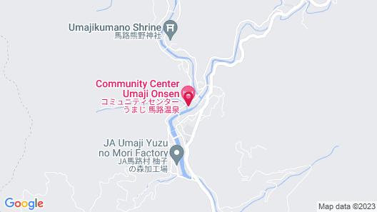 Umaji Onsen Map