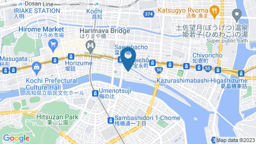 Hotel Nikko Kochi Asahi Royal Map