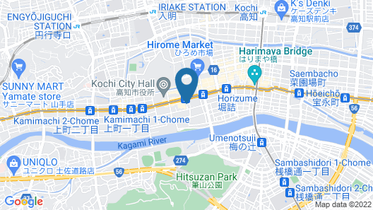 The Crown Palais New Hankyu Kochi Map