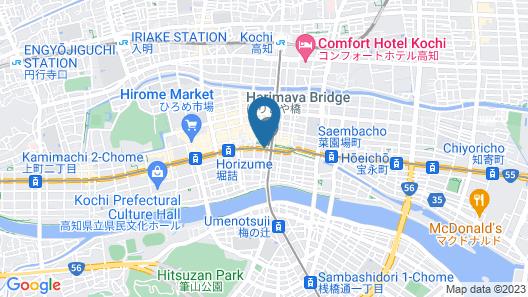 Nishitetsu Inn Kochi Harimayabashi Map