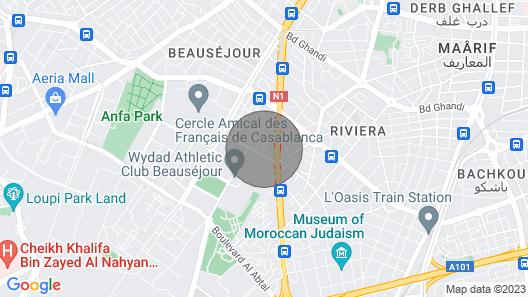 Mogador Very Cozy Apartment in Mon Casablanca Aparthotel Map