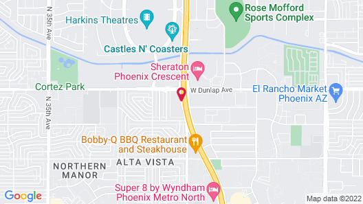 WoodSpring Suites Phoenix I-17 North Map