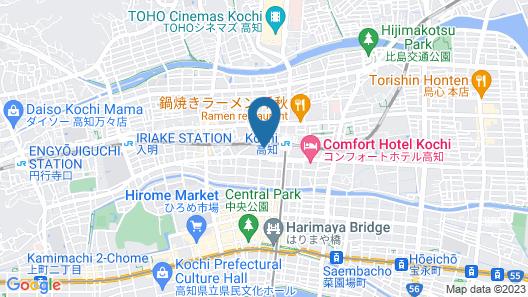 JR Clement Inn Kochi Map