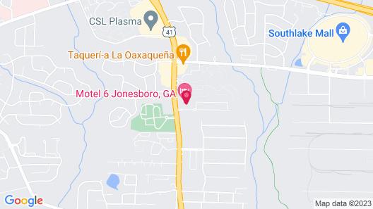 Motel 6 Jonesboro, GA Map