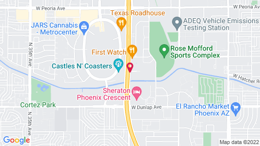 TownePlace Suites By Marriott Phoenix North Map