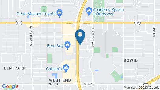 WoodSpring Suites Lubbock West Map