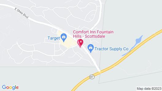 Comfort Inn Fountain Hills - Scottsdale Map
