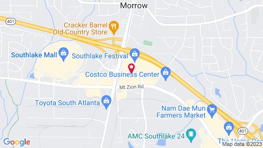 Hampton Inn Southlake Map