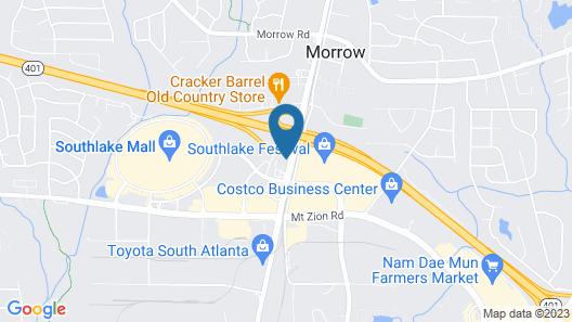 Quality Inn & Suites Morrow Atlanta South Map
