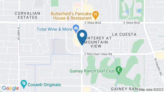 Hampton Inn & Suites Scottsdale on Shea Blvd Map
