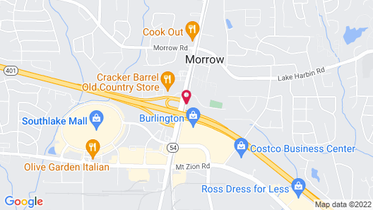 Drury Inn & Suites Atlanta Morrow Map