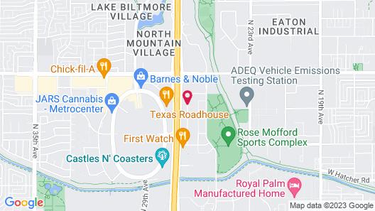 Comfort Suites Phoenix North Map